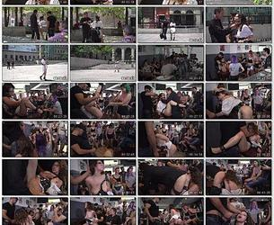 [PublicDisgrace.com / Kink.com] Zenda Sexy - Public Shame Slut Zenda Sexy Disgraced, Tickled, and Fucked by a Crowd (December 11, 2017) [540p]