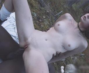 [LegalPorno.com / Analvids.com] Darcy Dark in search of mushrooms in the forest got her first anal BBC FLX010