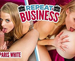WankzVR - Repeat Business - Evelyn Claire, Paris White (Smartphone)