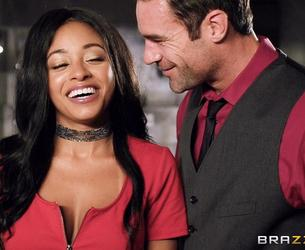 [BrazzersExxtra.com / Brazzers.com] Anya Ivy (A Daring First Date) [2017 g., All Sex, Interracial, Ebony, Natural Tits, Blindfolded, Facial, 1080p]