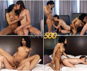 [Trans500.com | TransAtPlay.com] Korra Del Rio & Megan Snow / Double the Fun with Korra and Megan 18-08-2017 [2017 g., Shhemale, Hardcore, Cumshot, 1080p, SiteRip]