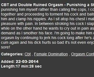 [EllaKross.com] 2014.03.22 CBT and Double Ruined Orgasm - Punishing a Stupid Robber (Part Five) [1080p][WMV]