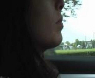 Video blue dildo while driving